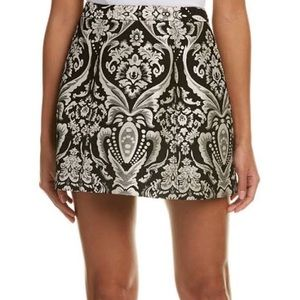 Alice and Olivia jaquered damask skirt